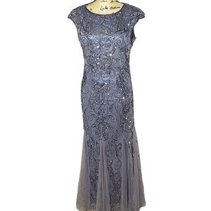 Pisarro Nights Purple Embellished Formal Gown